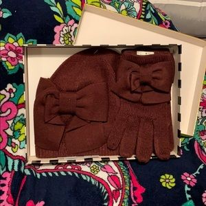 Kate spade hat and glove set!